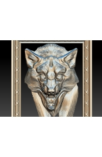 Wolf with frame