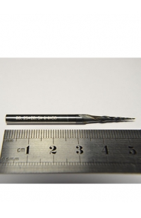 Solid Carbide tapered Ball nose end mill coating R0.25*20.5*D4*50 TiAlN HRC55