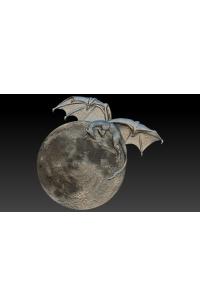 Dragon on the moon